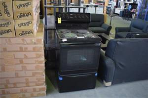 4 Plate black stove with oven