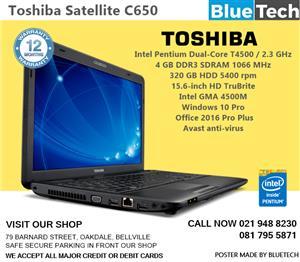 Toshiba Satellite C650 - Demo model in box, 12 months guarantee.