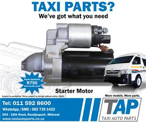 Toyota Quantum STARTER MOTOR - quality used spare parts - Taxi Auto Parts - TAP