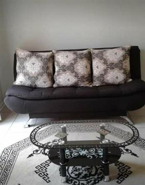 Dark brown sleeping couch for sale