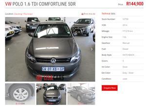 2014 VW Polo 1.6TDI Comfortline