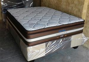 Posture Style Bamboo Pillow Top Double Mattress and Base Set.