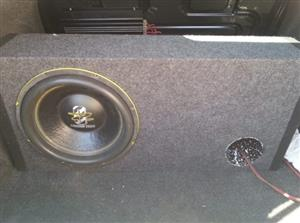 Ground Zero 12inch SPL 2ohm DVC sub with Box