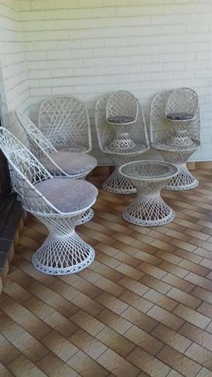 White woven Patio set for sale