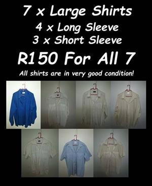 7 x Large Shirts