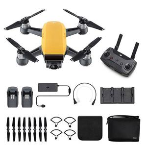 DJI Spark Drone - Sunrise Yellow (Fly More Combo)
