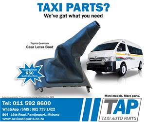 Toyota Quantum GEAR LEVER BOOT- quality used taxi spare parts for sale at Taxi Auto Parts - TAP