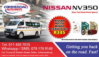 Minor Service Kit For Nissan Nv350 Impendulo For Sale.