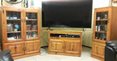 PRICE REDUCED! 3 PIECE PINE WALL UNIT FOR urgent SALE
