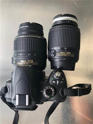 Nikon D60 Camera with 2 lenses