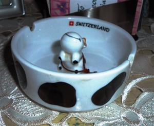 Creation Melpa Bulle Cow Ashtray Switzerland Perfect Souvenir New