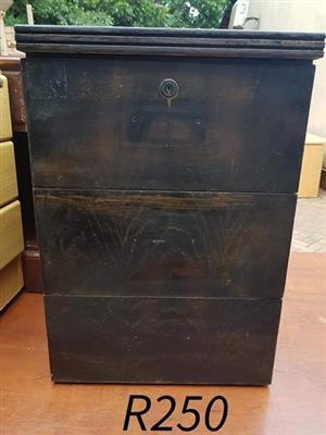 Dark wooden drawer for sale
