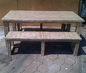 Patio table Chunky Cottage series 2000 Combo 1 Glazed