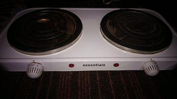 TWO PLATE ESSENTIALS ELECTRIC STOVE