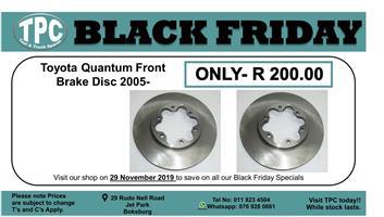 ★★★★BLACK FRIDAY 29 NOV★★★★  Toyota Quantum Front Brake Disc 2005- For Sale.