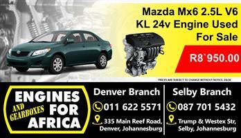 Mazda Mx6 2.5L kL v6 24v Engine Used For Sale
