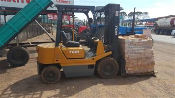 Yellow JAC 4.5T Forklift 4X2 Pre-Owned Forklift