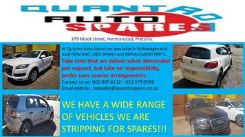 WE HAVE A WIDE RANGE OF VEHICLES WE ARE STRIPPING FOR SPARES!!!