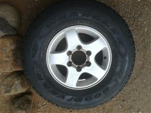New tyre with mag