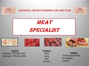 Meat specialist or butchery specialist