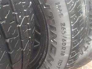 265/60R18 CONTINENTAL TYRES FOR SALE