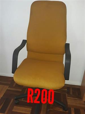 Yellow office chair for sale