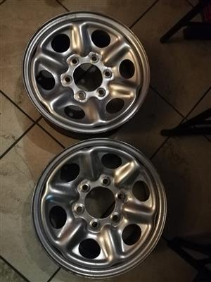 Wheel rims 15 inch for trailer.