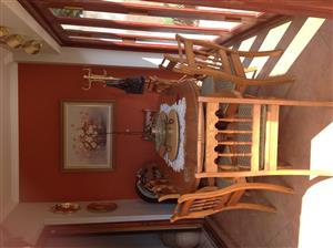 11pce Solid Oak Dining Room Suite