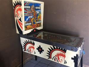 Big Indian Pinball Machine manufactured by Gottlieb, 4 Player for sale
