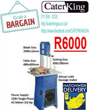 MEDIUM DUTY BANDSAW WITH MINCER ATTACHMENT