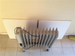 2 x Wall Mounted Panel Heaters and 1 x Salton Oil Heater