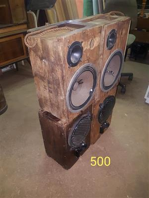 Hout cover speakers Te koop