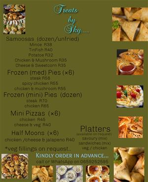 Catering Service of Savoury Treats