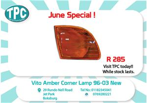 Mercedes Benz Vito Amber Corner Lamp 96-03 New for Sale  at TPC