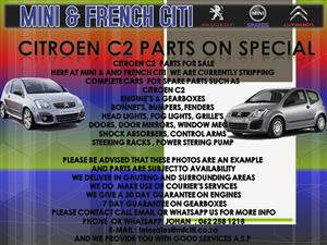 CITROEN C2 USED CAR PARTS AND ACCESSORIES