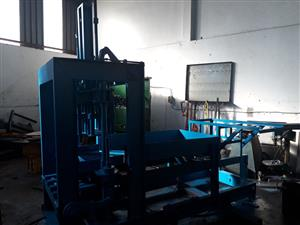 Incredible deal on a brick making machine, contact us for the details.