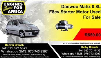 Daewoo Matiz 0.8L F8cv Starter Motor Used For Sale.