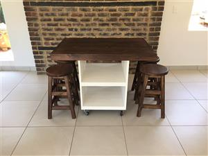 Kitchen Island Chunky Farmhouse series 1200 combo Stained