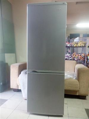 kic double door fridge and freezer silver