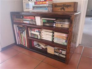 Dark wooden vintage bookshelf for sale
