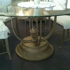 Dining room set with 6 chairs and server