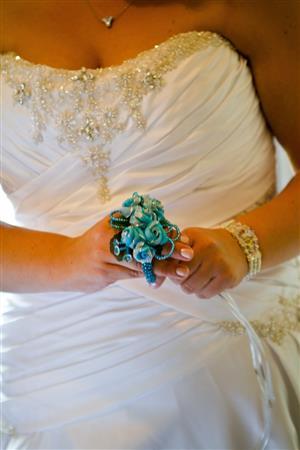 Beautiful Crystal & Silk Wedding Gown