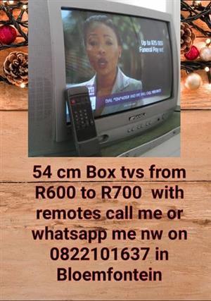 54 cm Box TVs with remotes