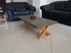 Brand new Modern Rustic Concrete Coffee Table