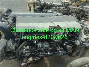 MAN tga tgs common rail engines for sale