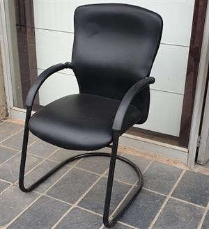 Pre-owned Visitors arm chair in black PU leather