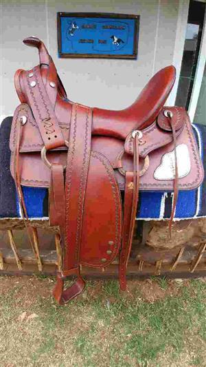 Absolutely Stunning Santa Fe western saddle