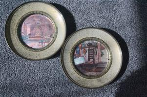Solid brass plate scenes