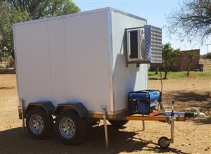Dual fridge/freezer double axle trailer for sale