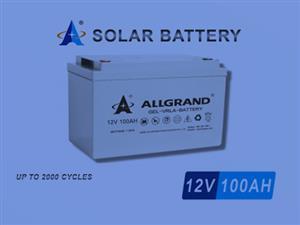 SOLAR DEEP CYCLE GEL BATTERY 100AH 12V VRLA BATTERY